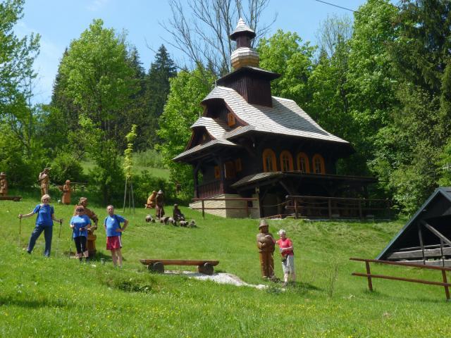 Galérie v přírodě a kaple svatého Huberta