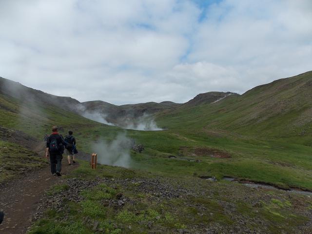 Hveragerdi - turistika směr horský potok