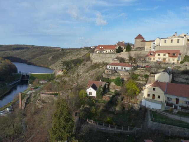 Pohled na Rotundu a Znojemský hrad.